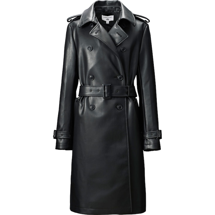 Women Carine Coat, Black, Large