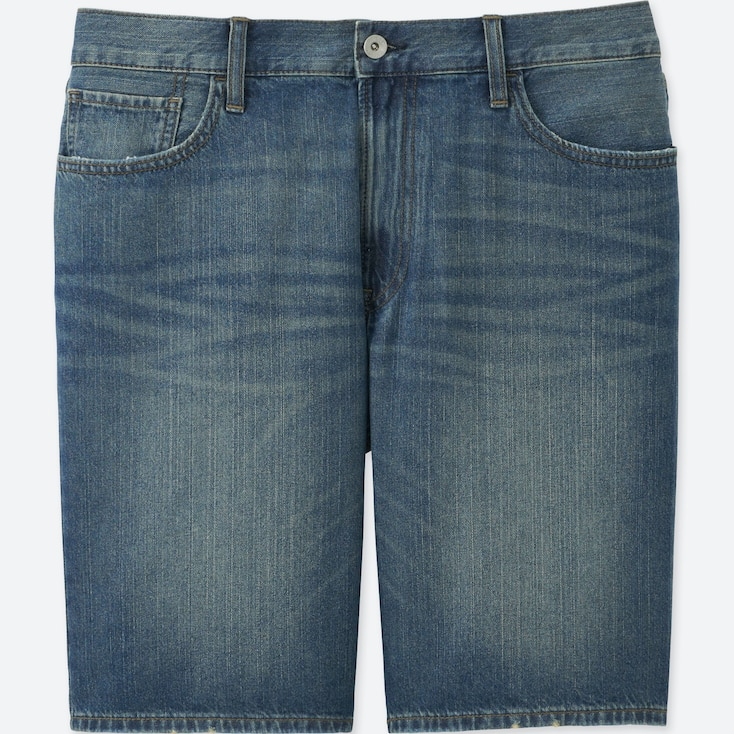 Men Denim Shorts, Blue, Large