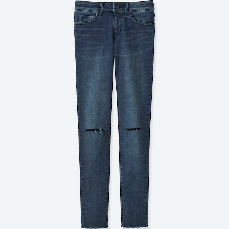 Women Ultra Stretch Jeans, Blue, Large