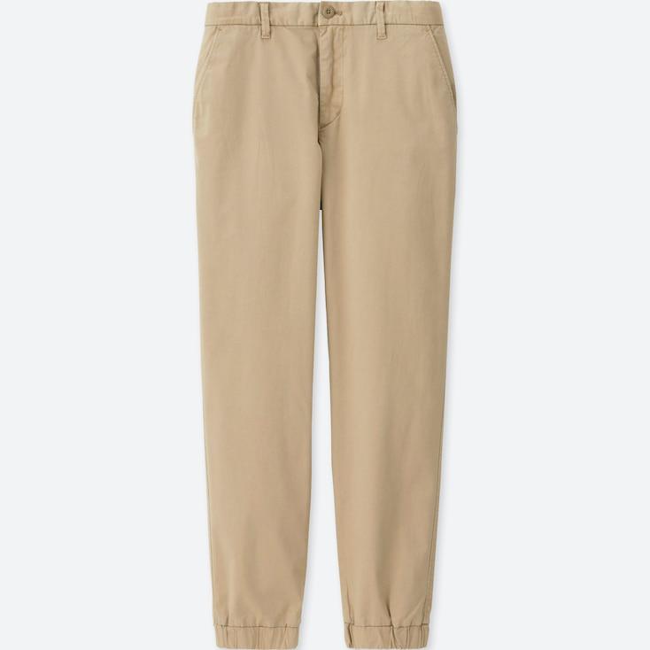 MEN JOGGER PANTS (COTTON), BEIGE, large