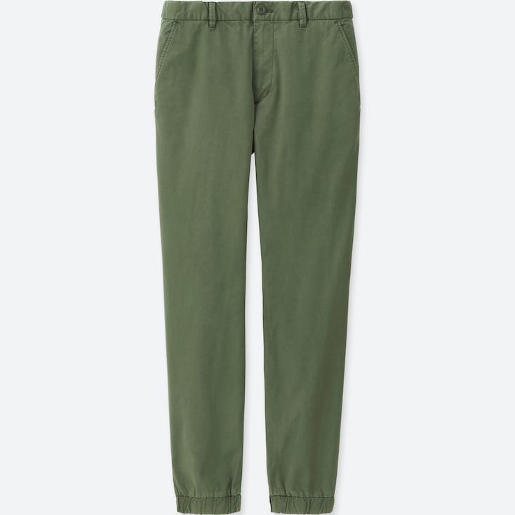 Men Jogger Pants (Cotton), Olive, Large