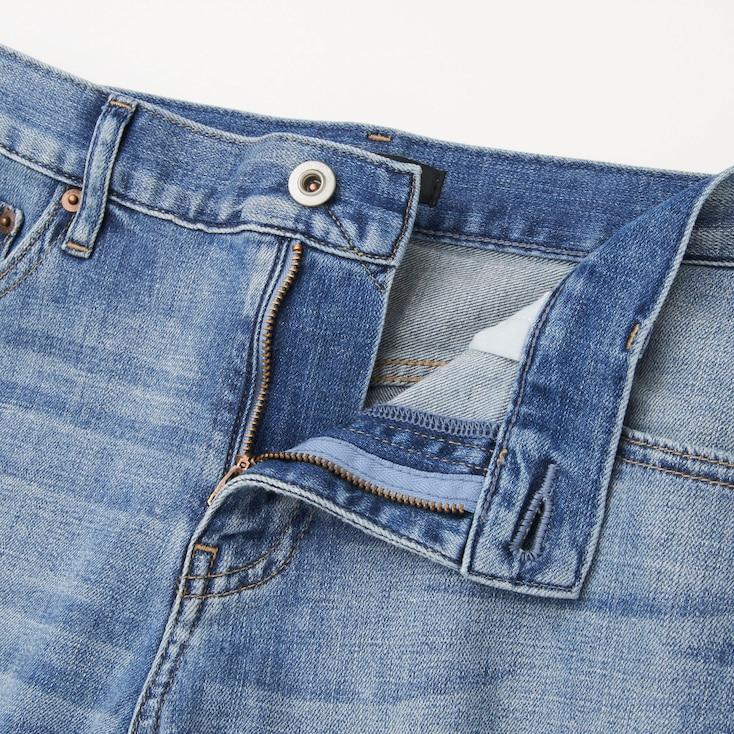 Women Slim Boyfriend Fit Ankle Jeans, Blue, Large