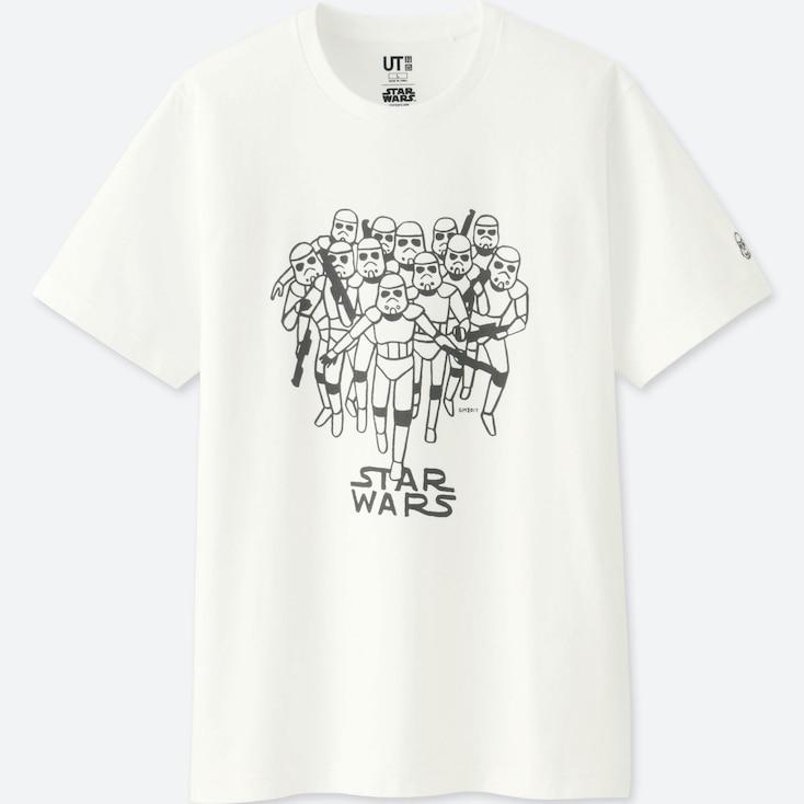 Men Star Wars | Artist Collection Graphic T-Shirt (Geoff Mcfetridge), White, Large