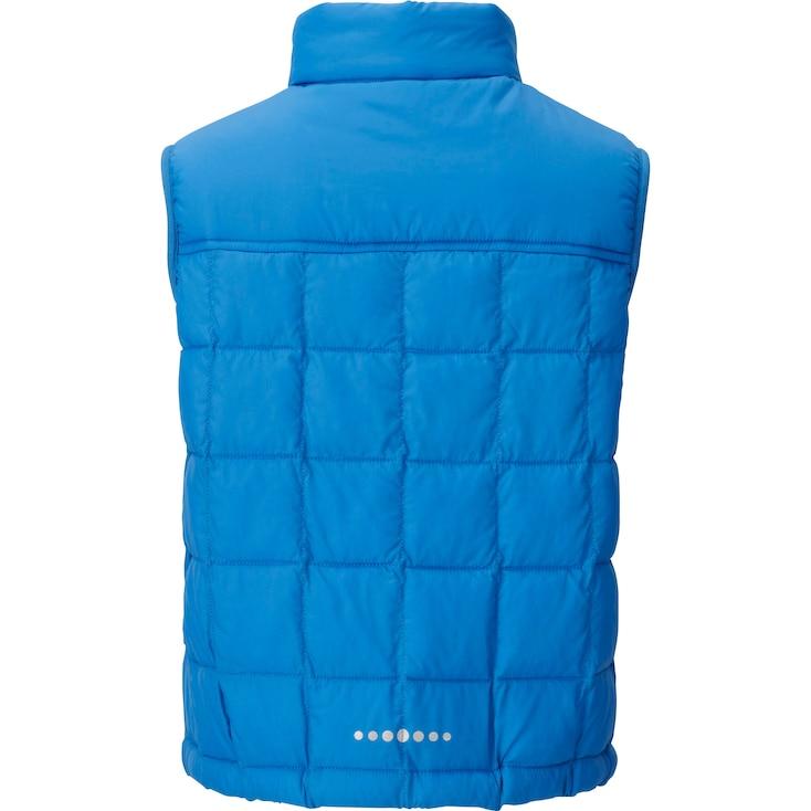 Boys Light Warm Padded Vest, Gray, Large