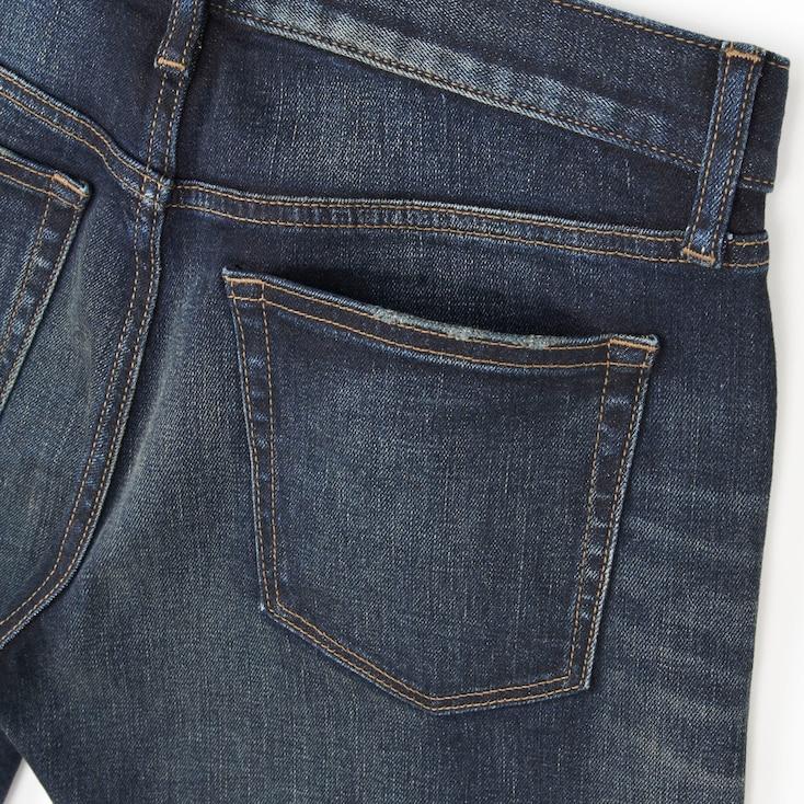 Men Slim-Fit Distressed Jeans, Blue, Large