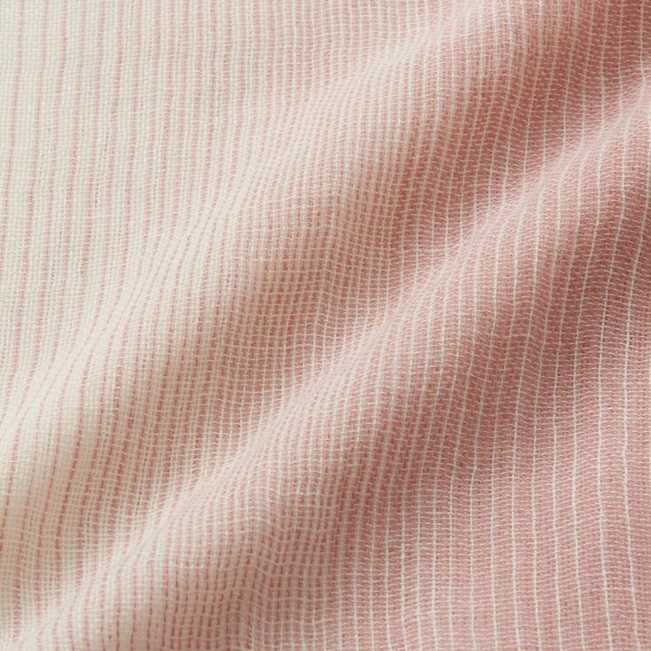 Cotton Linen Stole (Gradation), Blue, Large