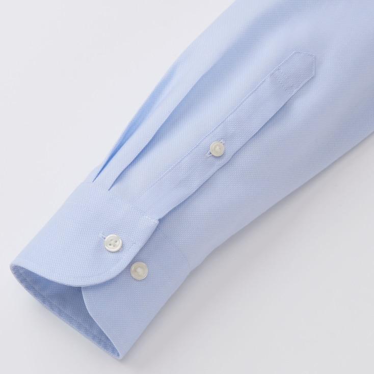 Men Easy Care Oxford Slim-Fit Long-Sleeve Shirt, Light Blue, Large