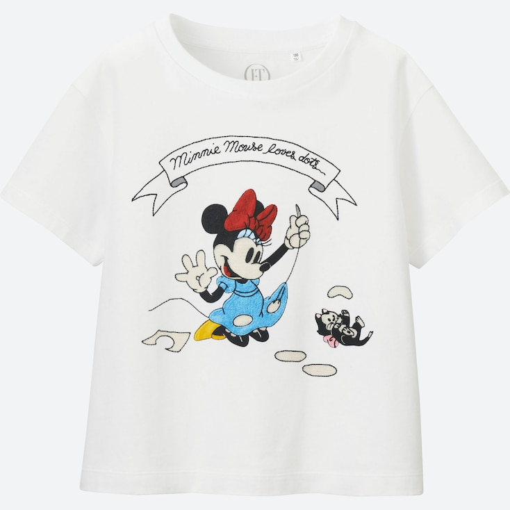 GIRLS Disney (Minnie Mouse Loves Dots) GRAPHIC T-SHIRT, WHITE, large