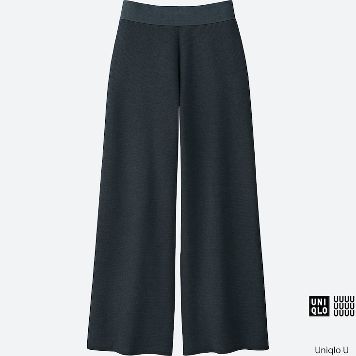 Women U Milano Ribbed Pants, Blue, Large