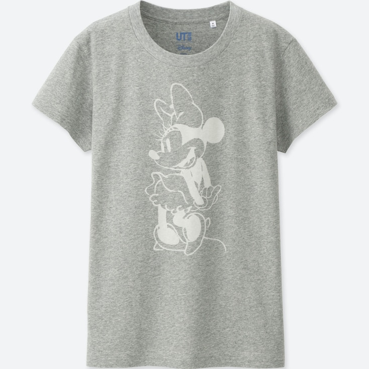 WOMEN MICKEY BLUE SHORT SLEEVE GRAPHIC T-SHIRT, GRAY, large