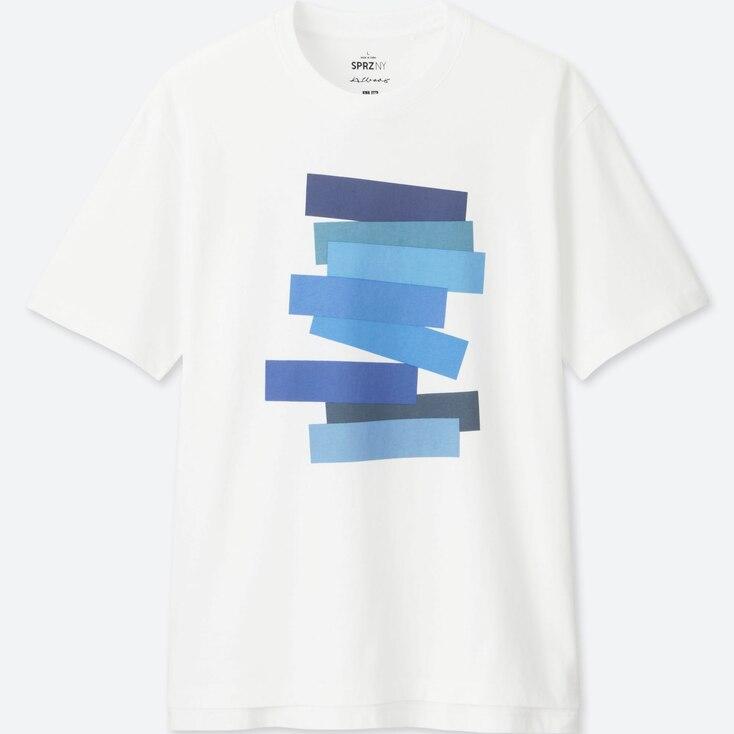 MEN SPRZ NY  GRAPHIC T-SHIRT (Josef Albers), WHITE, large