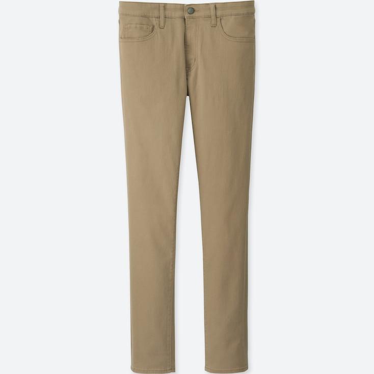 Men Stretch Skinny Fit Color Jeans, Beige, Large