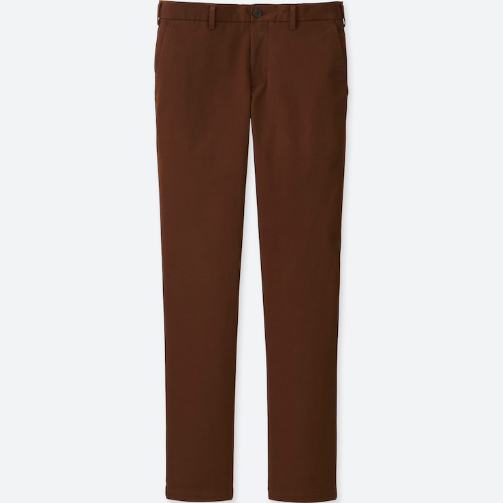 MEN SLIM-FIT CHINO FLAT FRONT PANTS, BROWN, large