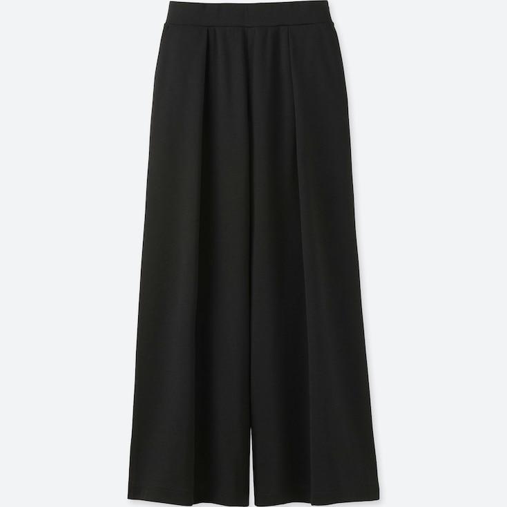 Women Wide Pants, Black, Large