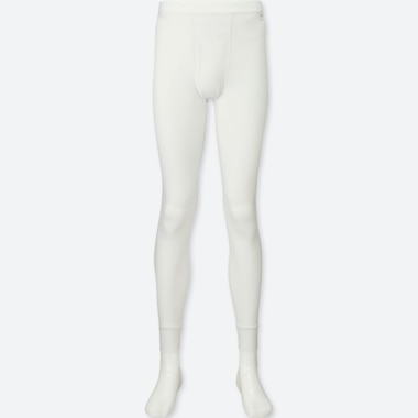 MEN HEATTECH TIGHTS, WHITE, medium