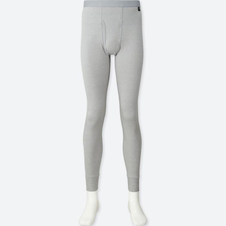 Men Heattech Extra Warm Tights, Light Gray, Large