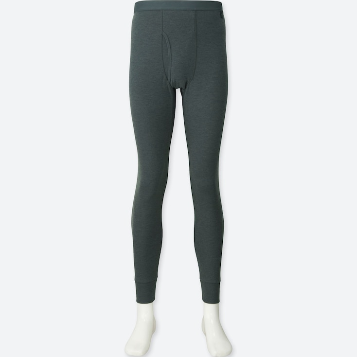 Men Heattech Ultra Warm Long Johns, Dark Gray, Large