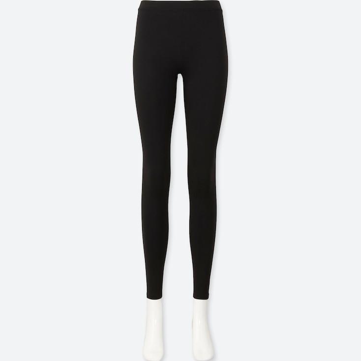 Women Heattech Extra Warm Leggings, Black, Large