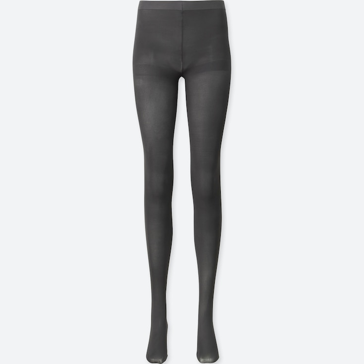 Women Heattech Tights, Dark Gray, Large