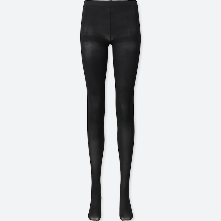 WOMEN HEATTECH TIGHTS, BLACK, large
