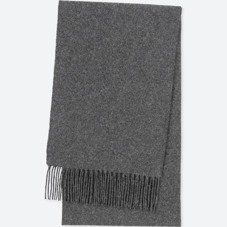 Cashmere Scarf, Dark Gray, Large