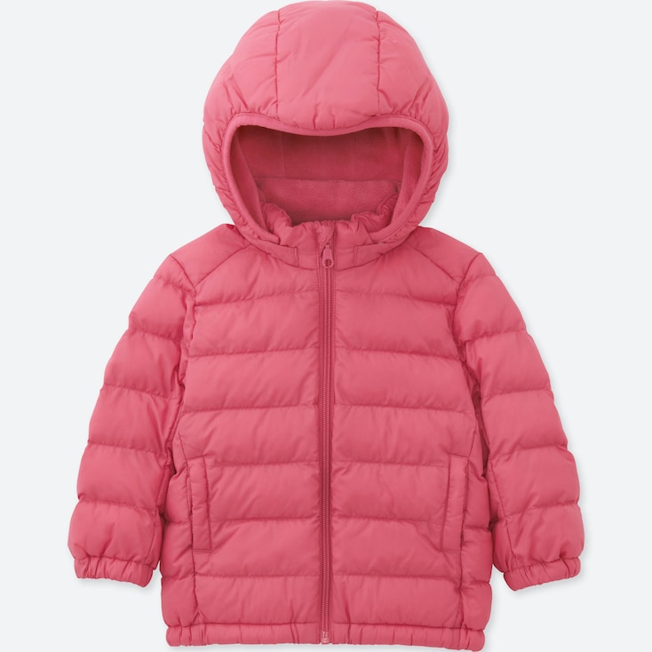 TODDLER LIGHT WARM PADDED FULL-ZIP PARKA, PINK, large