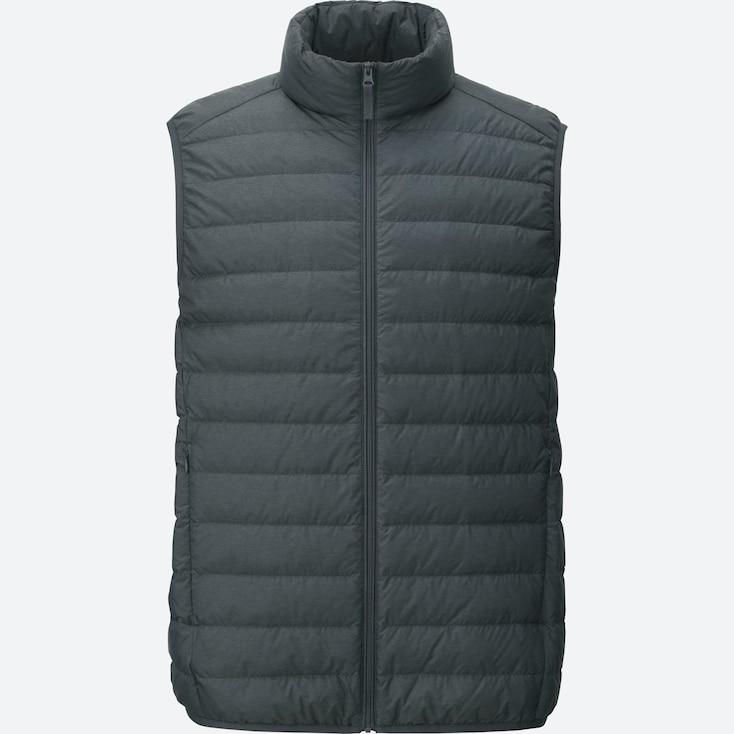 Ultra Light Down Vest, DARK GRAY, large