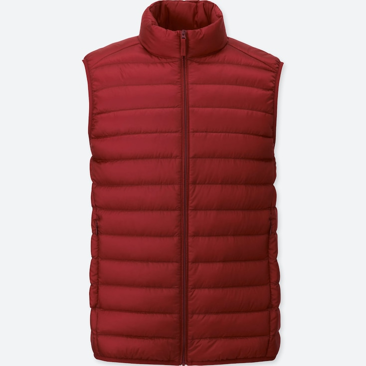 Ultra Light Down Vest, RED, large