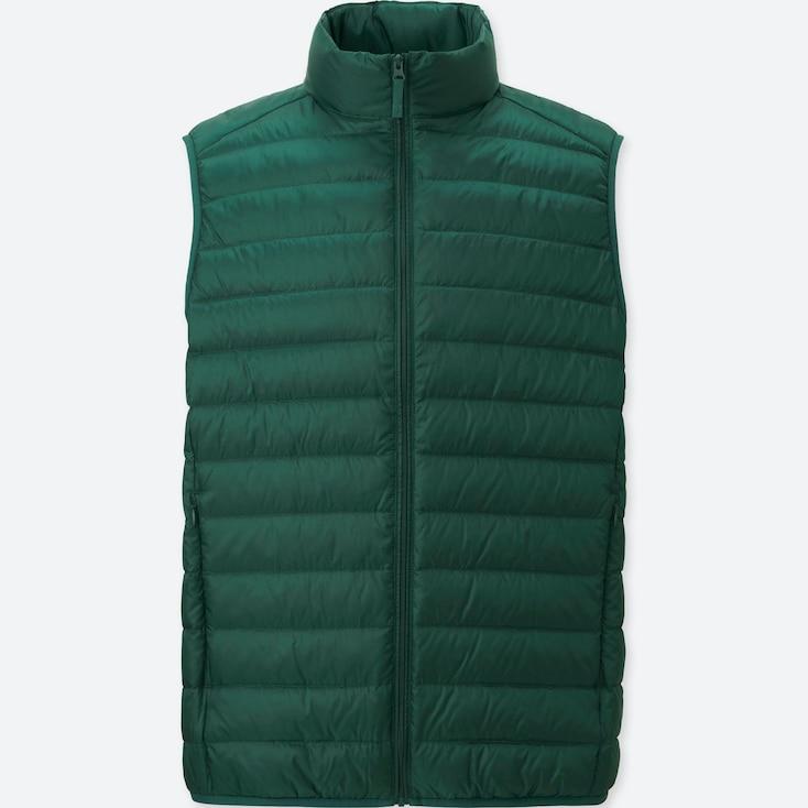 Ultra Light Down Vest, OLIVE, large