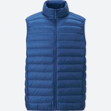 Ultra Light Down Vest, BLUE, medium