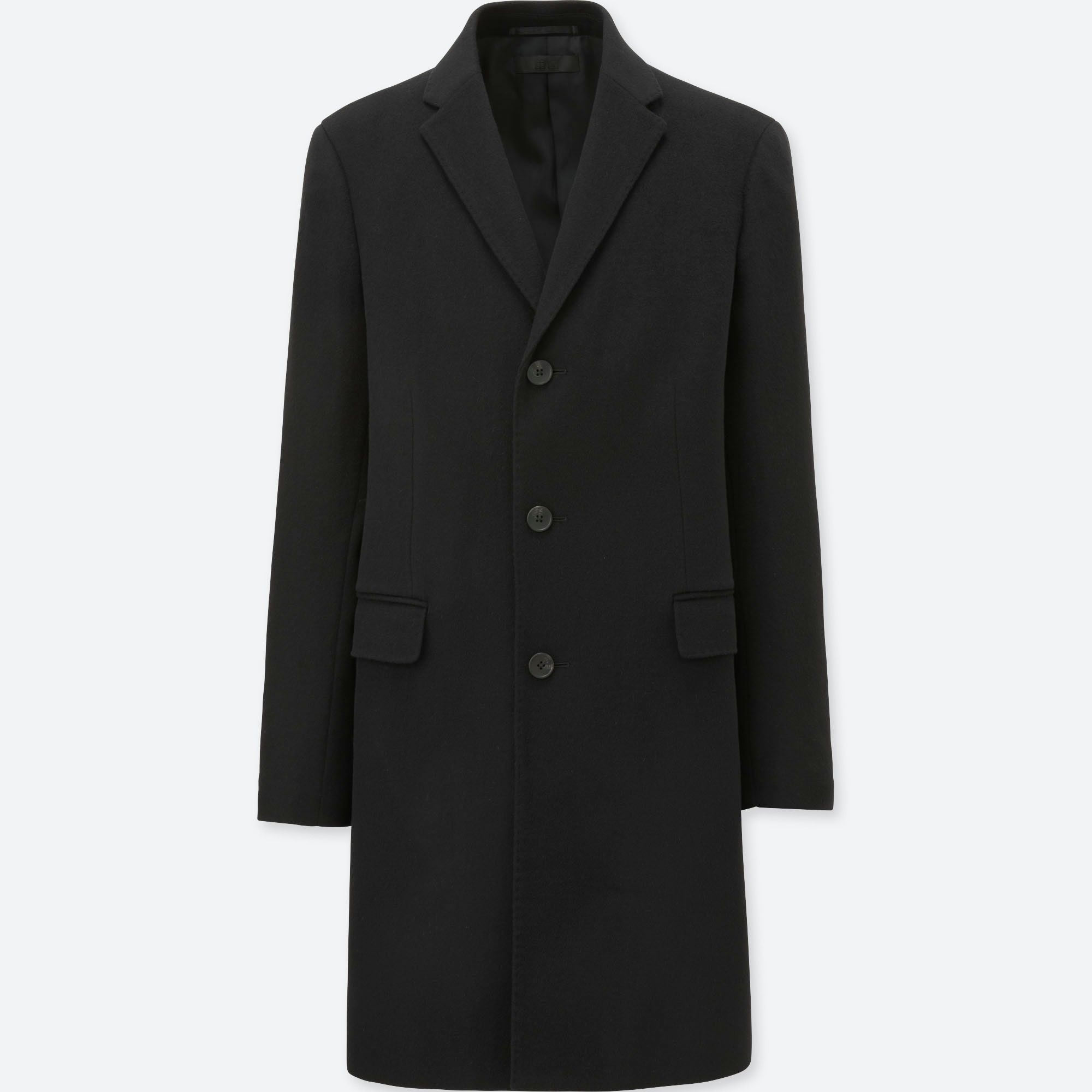 bb5184c4 MEN WOOL CASHMERE CHESTERFIELD COAT