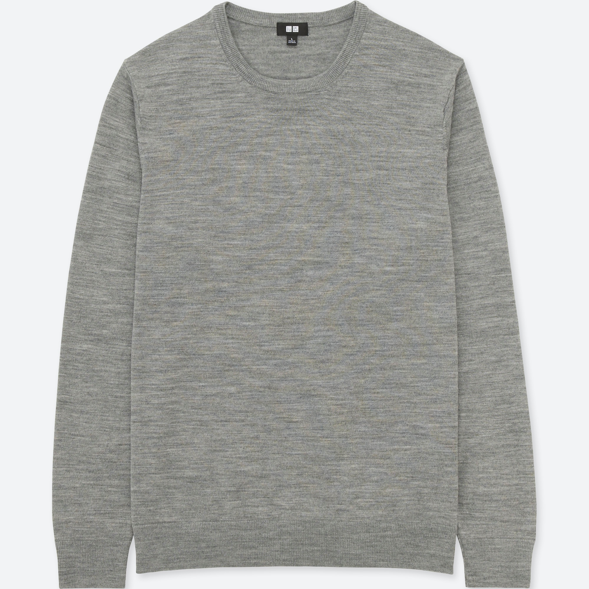 MEN EXTRA FINE MERINO CREW NECK LONG SLEEVE SWEATER