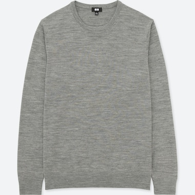 PULL MÉRINOS EXTRA FIN COL ROND HOMME