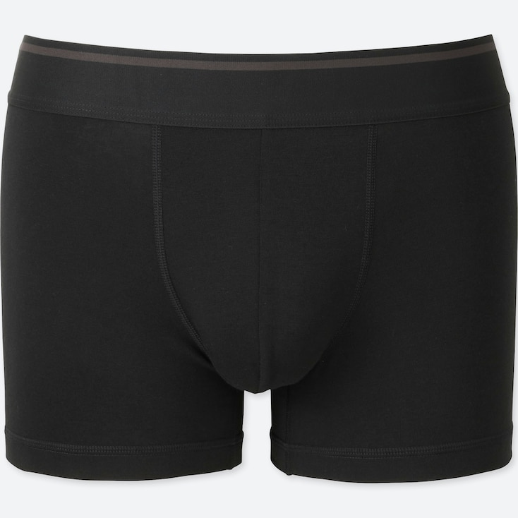 MEN SUPIMA® COTTON LOW-RISE BOXER BRIEFS, BLACK, large