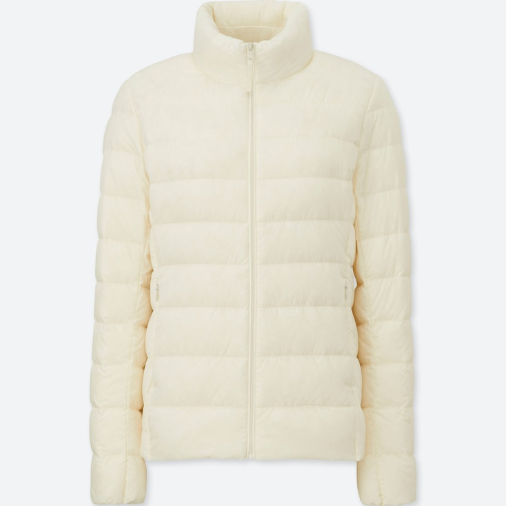 Women Ultra Light Down Jacket, OFF WHITE, large