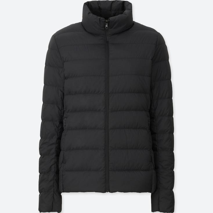 Women Ultra Light Down Jacket, BLACK, large