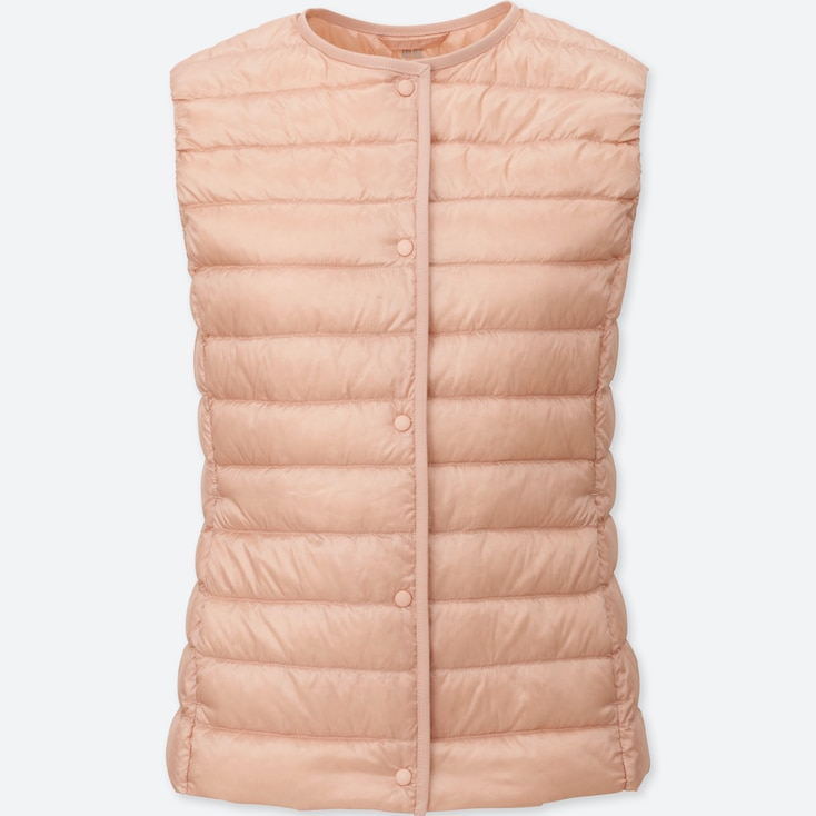 Women Ultra Light Down Compact Vest, PINK, large