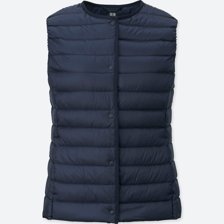 Women Ultra Light Down Compact Vest, NAVY, large