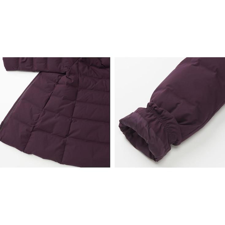 Women Seamless Down Coat, Purple, Large