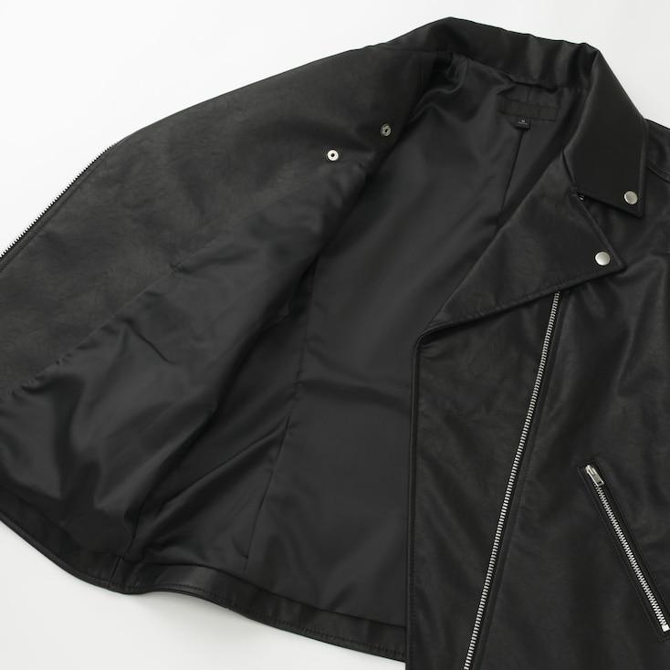 Women Riders Jacket, Black, Large