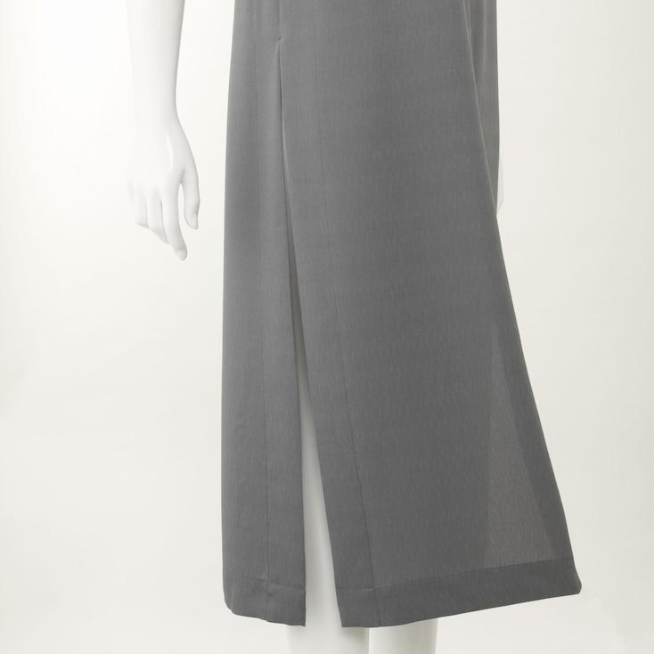 Women Long Vest, Gray, Large