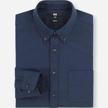 CAMICIA OXFORD UOMO SLIM FIT (COLLETTO BUTTON-DOWN)
