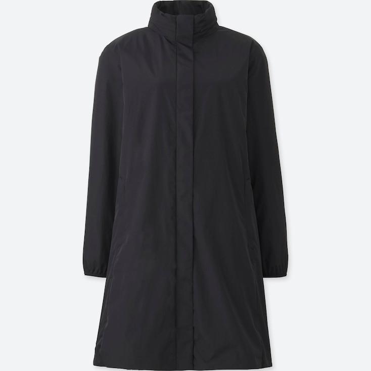 Women Pocketable Blocktech Light Coat, Black, Large