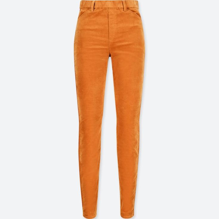 Women Heattech High-Rise Leggings Pants (Velvet), Brown, Large