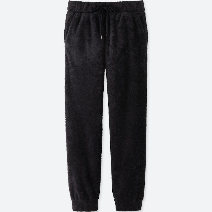 Men Fleece Easy Pants, Navy, Large