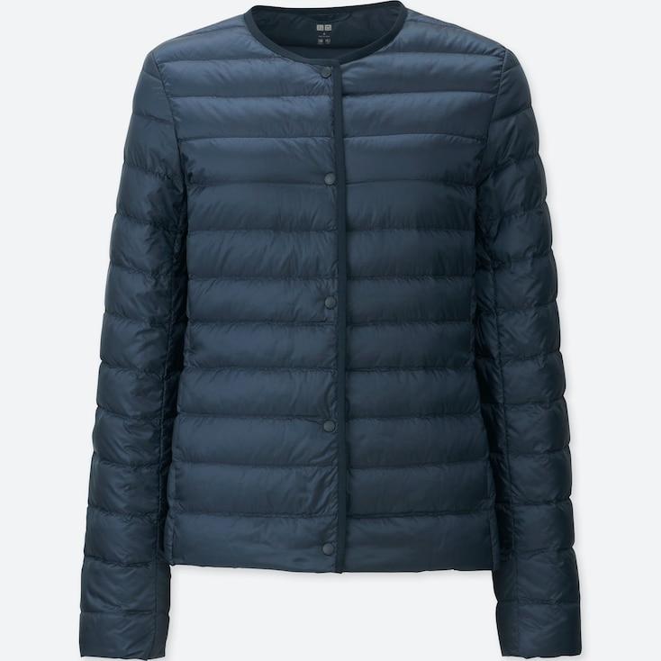 Women Ultra Light Down Compact Jacket, Navy, Large