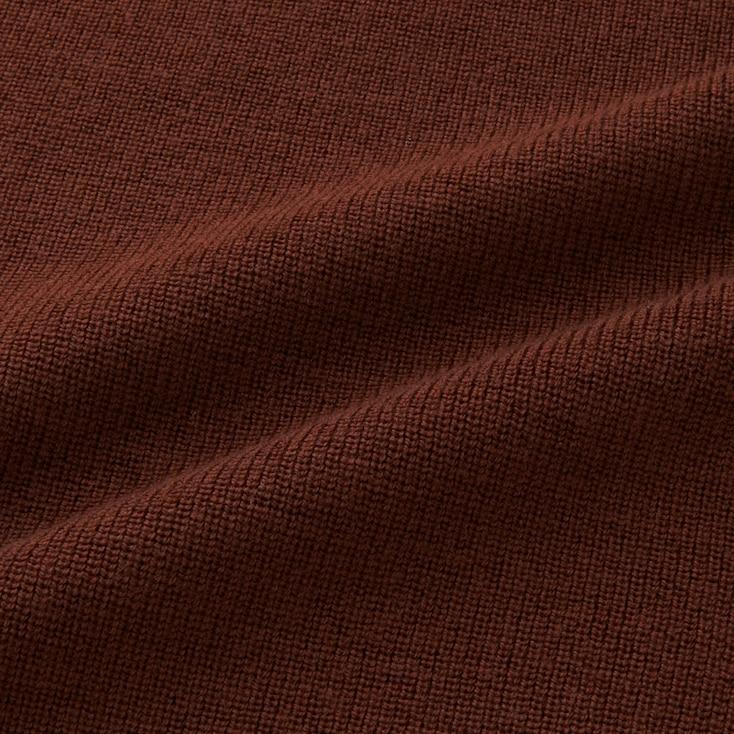 Men U Merino-Blend Turtleneck Long-Sleeve Sweater, Brown, Large