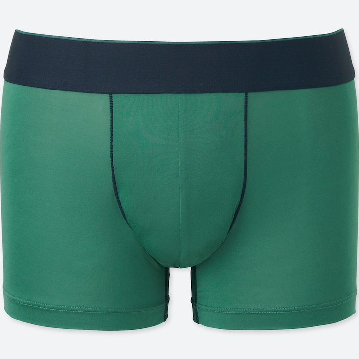 MEN AIRism LOW-RISE BOXER BRIEFS, GREEN, large