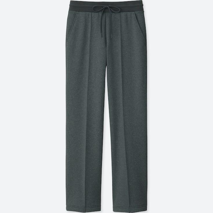 Women Blocktech Fleece Straight Pants, Dark Gray, Large