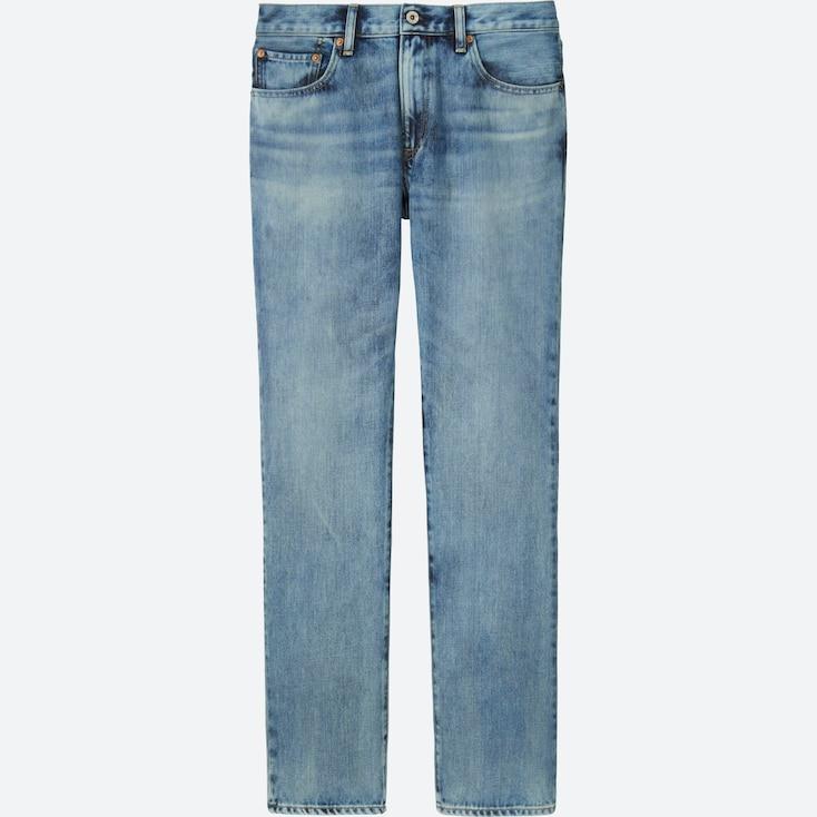 Men Regular-Fit Jeans, Blue, Large